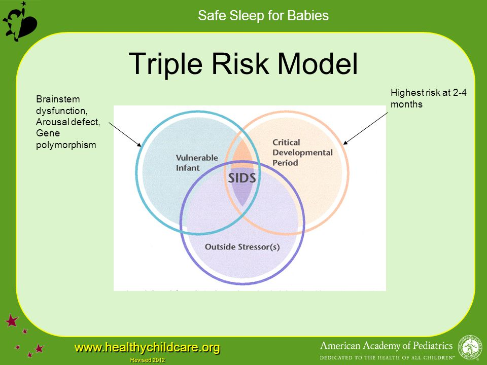 Triple Risk Model Highest risk at 2-4 months