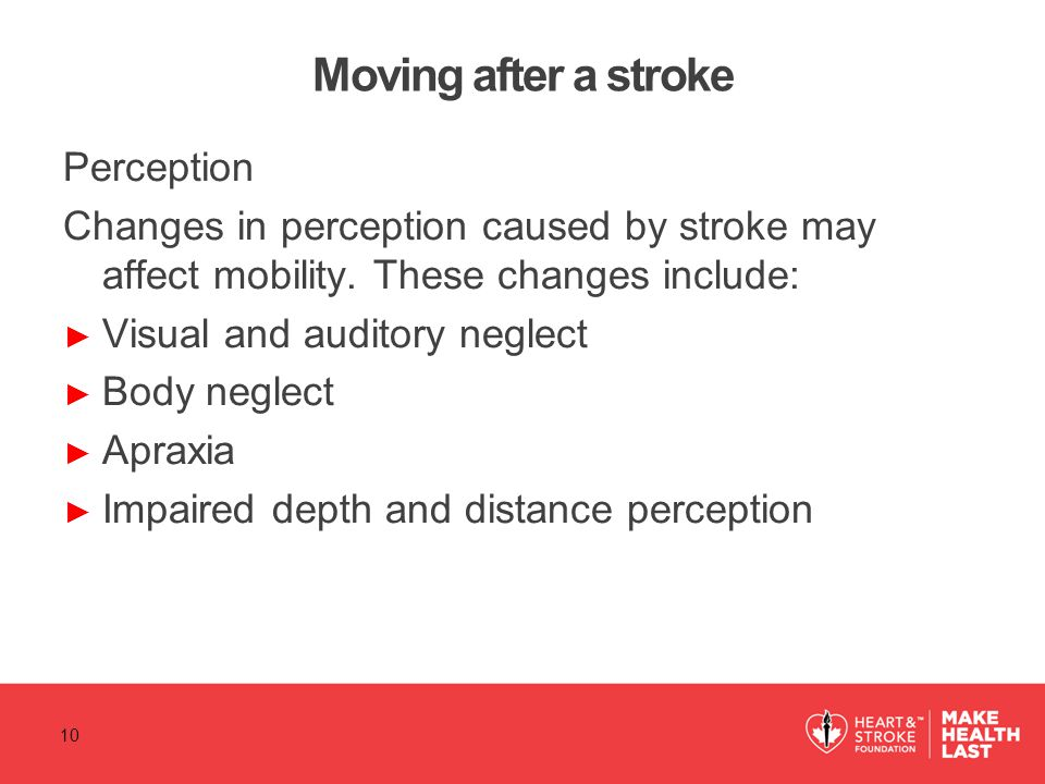 Moving after a stroke Perception