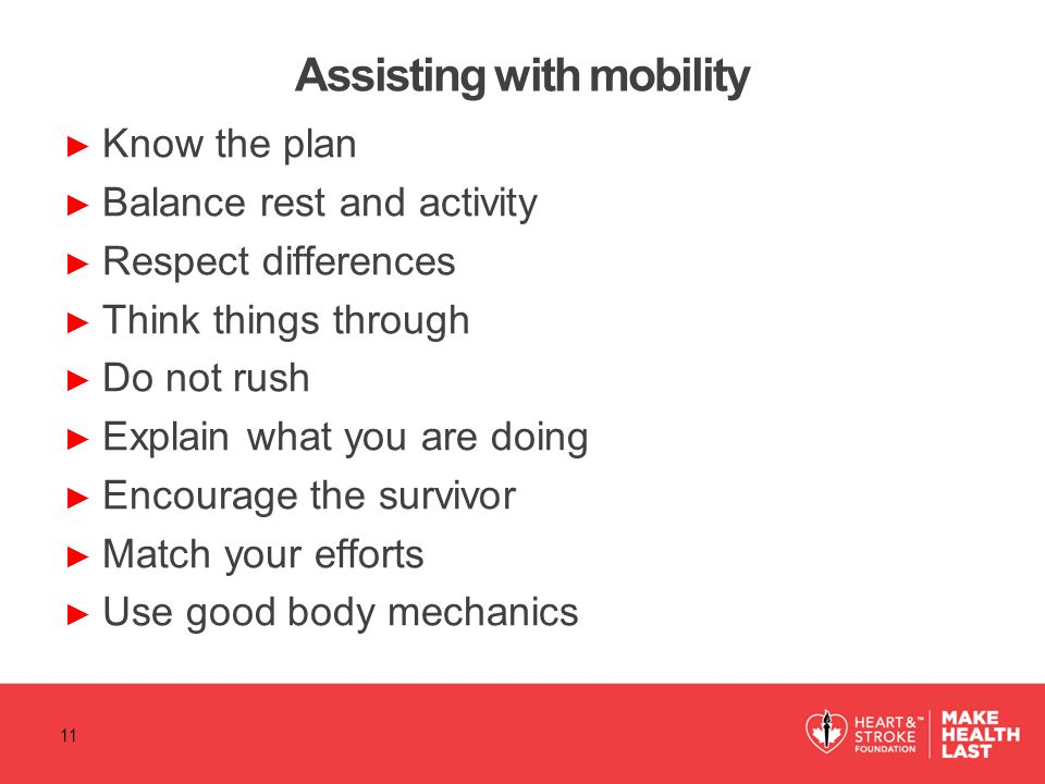 Assisting with mobility