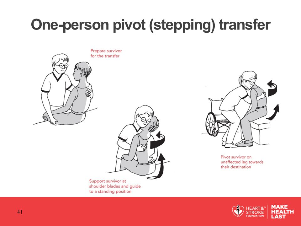 One-person pivot (stepping) transfer