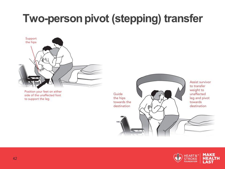 Two-person pivot (stepping) transfer