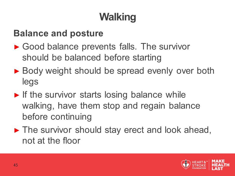 Walking Balance and posture