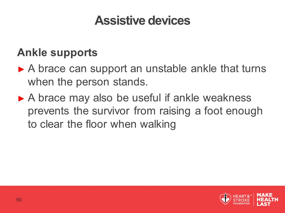 Assistive devices Ankle supports