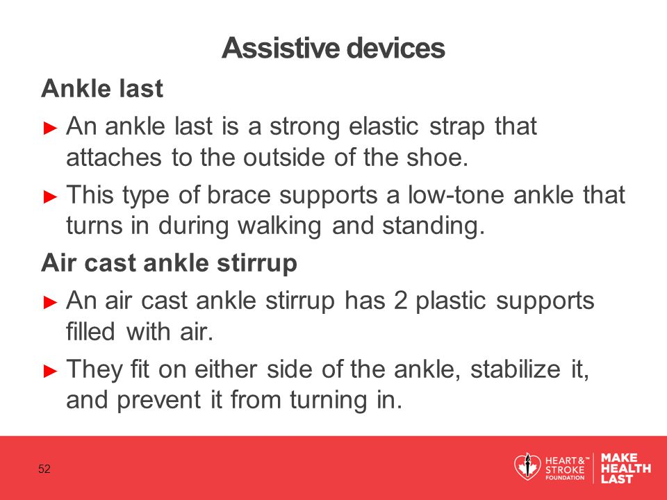 Assistive devices Ankle last