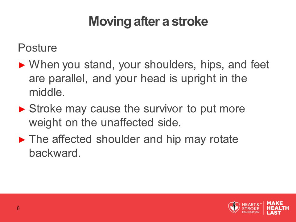 Moving after a stroke Posture