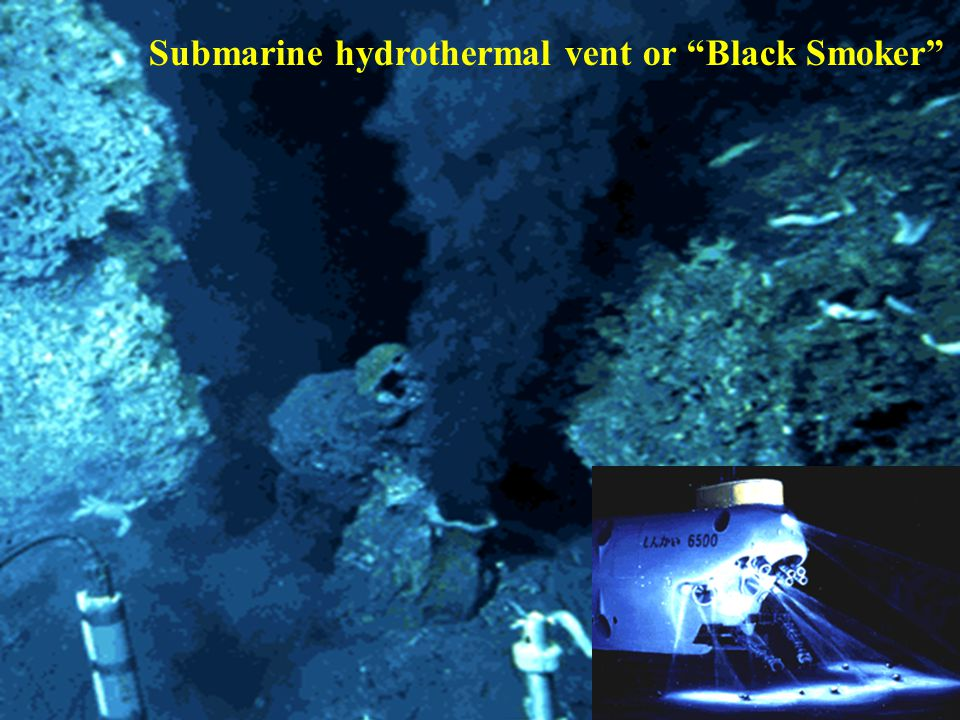 Submarine hydrothermal vent or Black Smoker