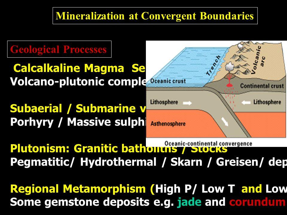 Mineralization at Convergent Boundaries