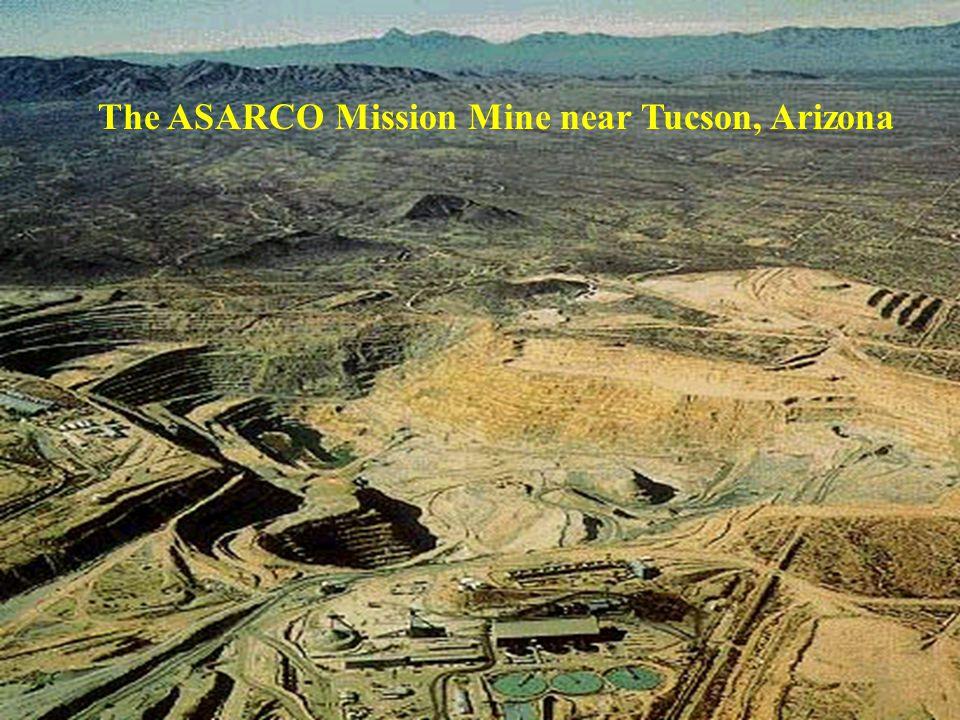 The ASARCO Mission Mine near Tucson, Arizona