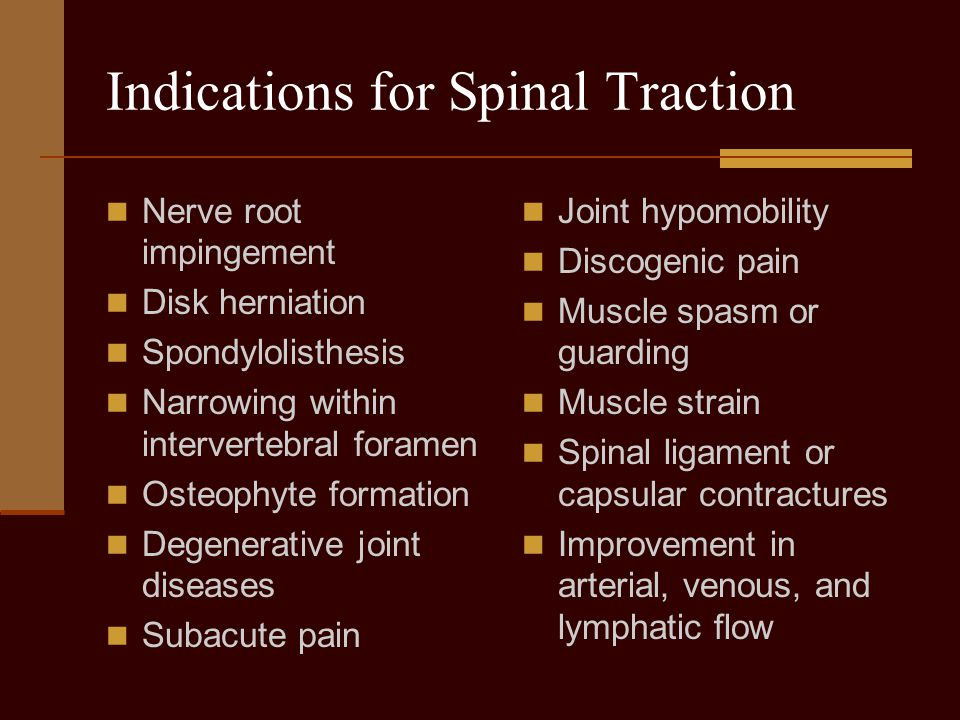 Indications for Spinal Traction