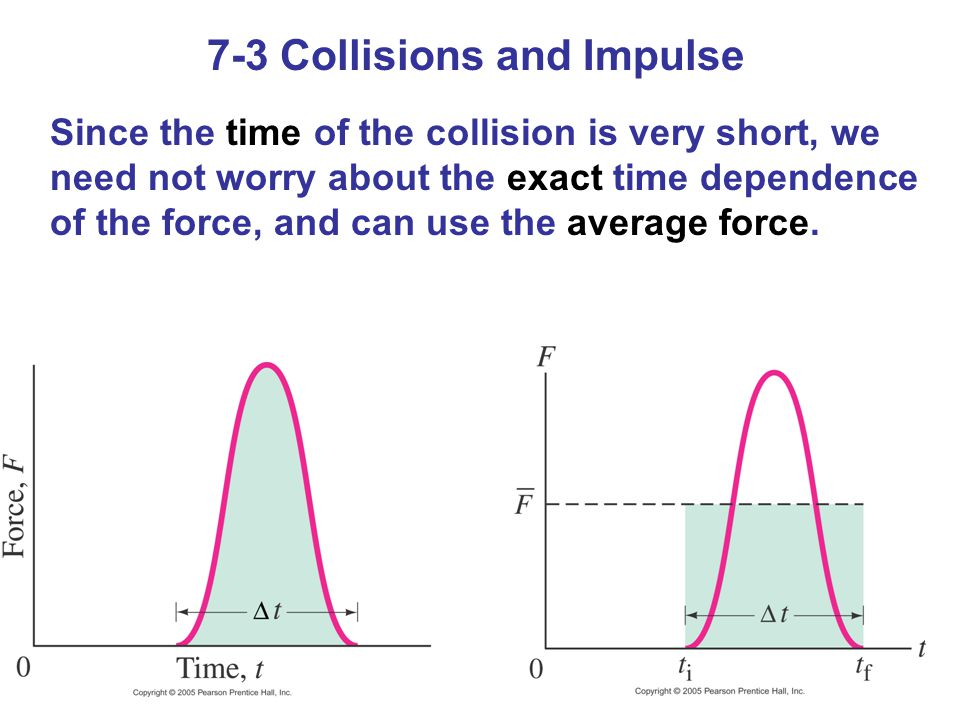 7-3 Collisions and Impulse