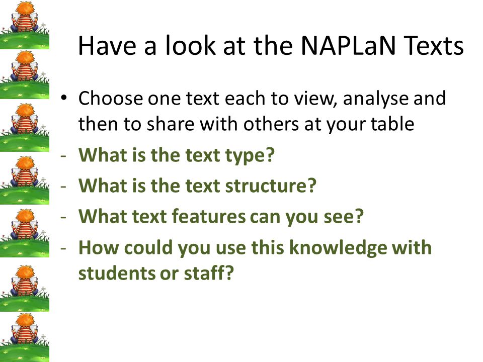 Have a look at the NAPLaN Texts