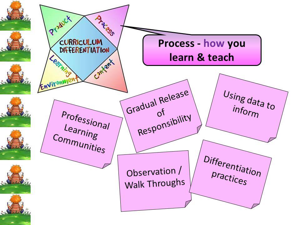 Process - how you learn & teach