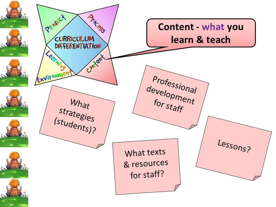 Content - what you learn & teach