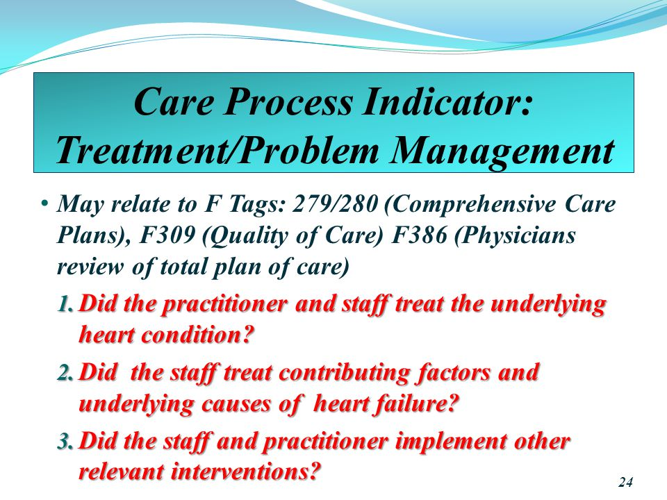 Care Process Indicator: Treatment/Problem Management