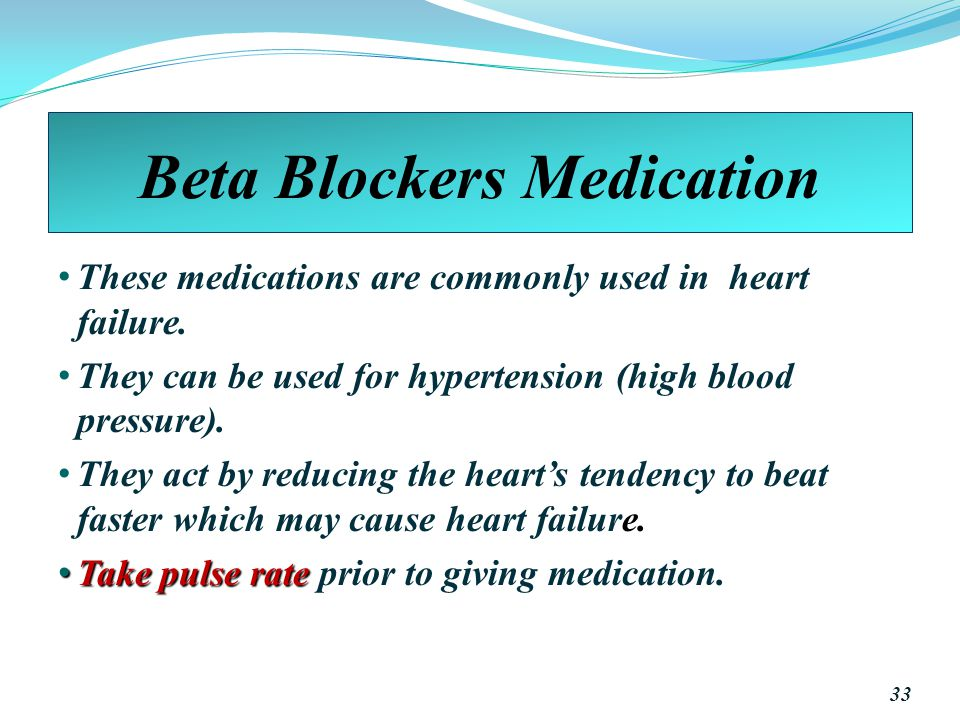 Beta Blockers Medication