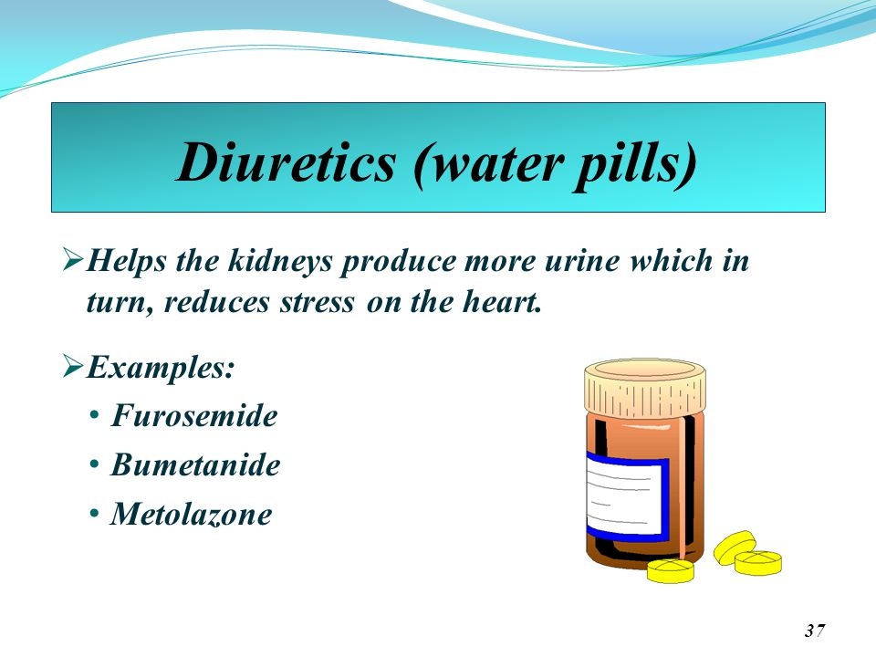 Diuretics (water pills)