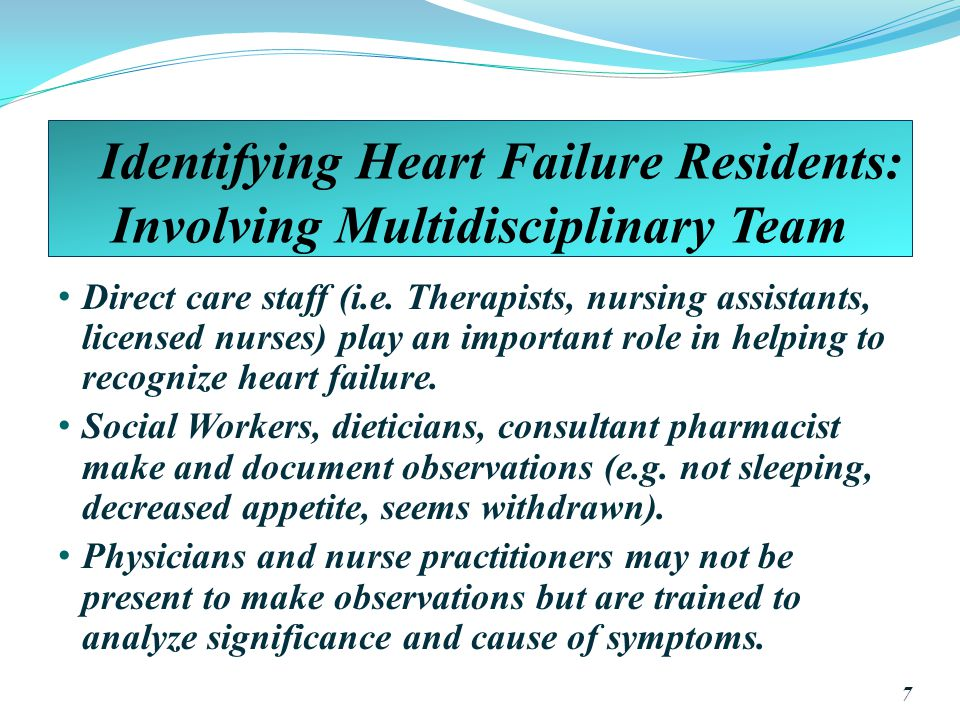 Identifying Heart Failure Residents: Involving Multidisciplinary Team