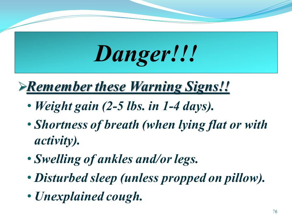 Danger!!! Remember these Warning Signs!!