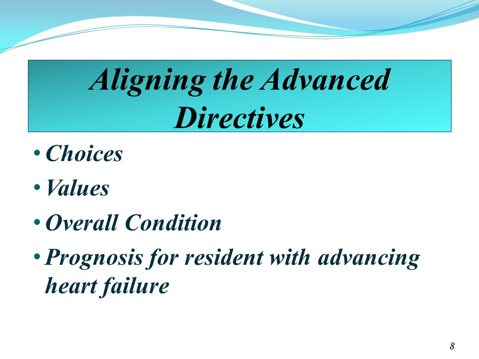 Aligning the Advanced Directives