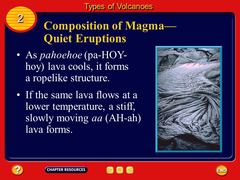 Composition of Magma—Quiet Eruptions