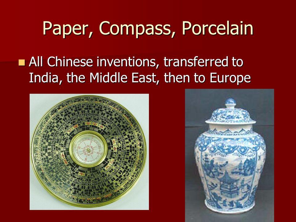 Paper, Compass, Porcelain
