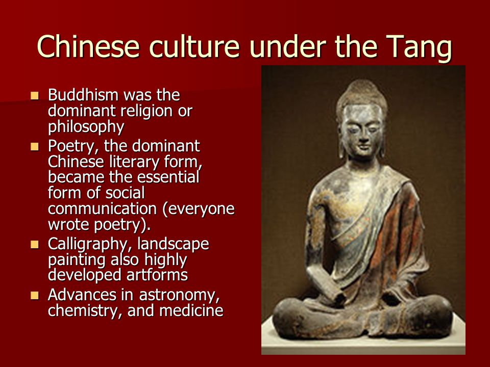 Chinese culture under the Tang