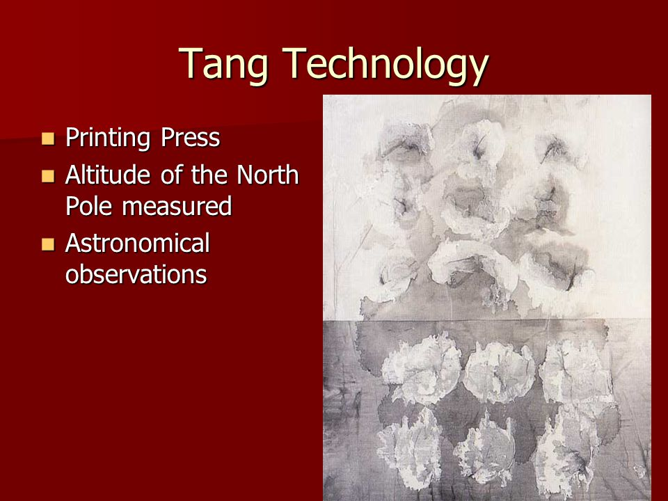 Tang Technology Printing Press Altitude of the North Pole measured