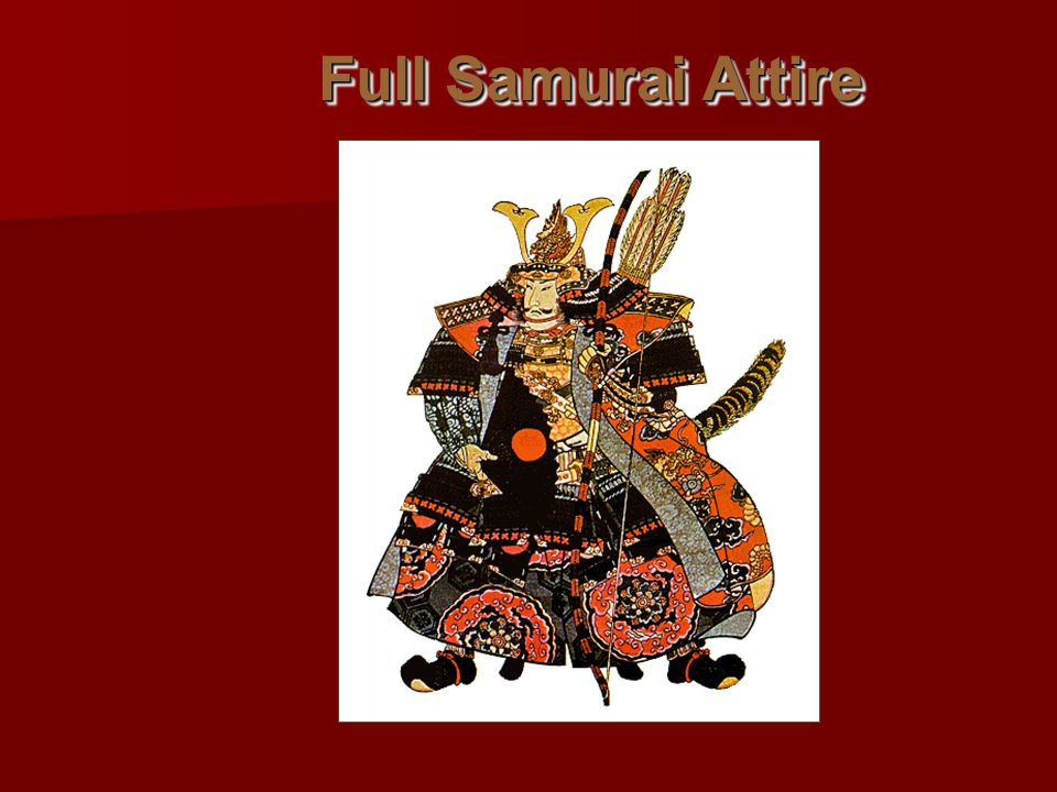 Full Samurai Attire