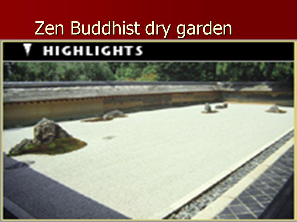 Zen Buddhist dry garden