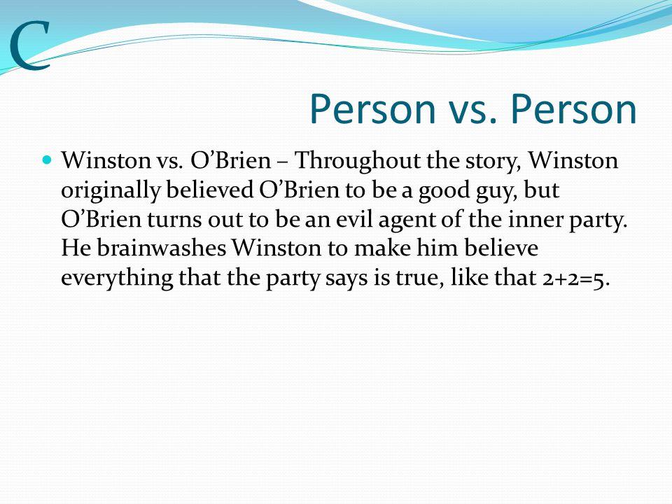 C Person vs. Person.