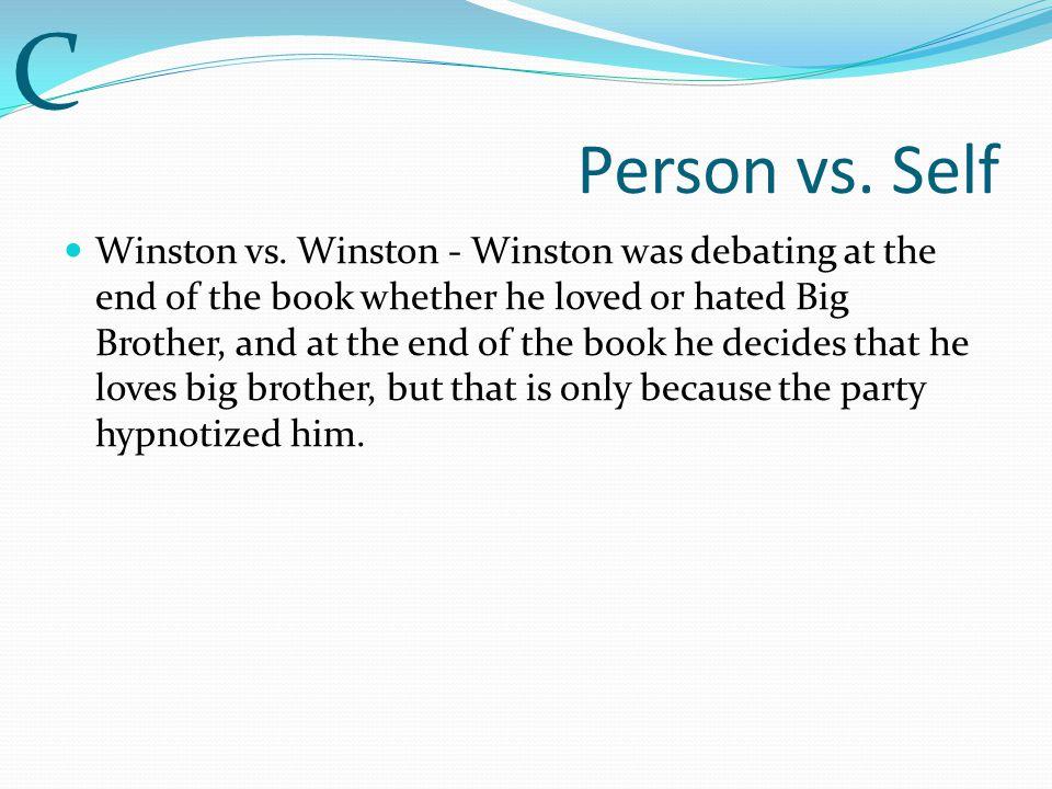 C Person vs. Self.