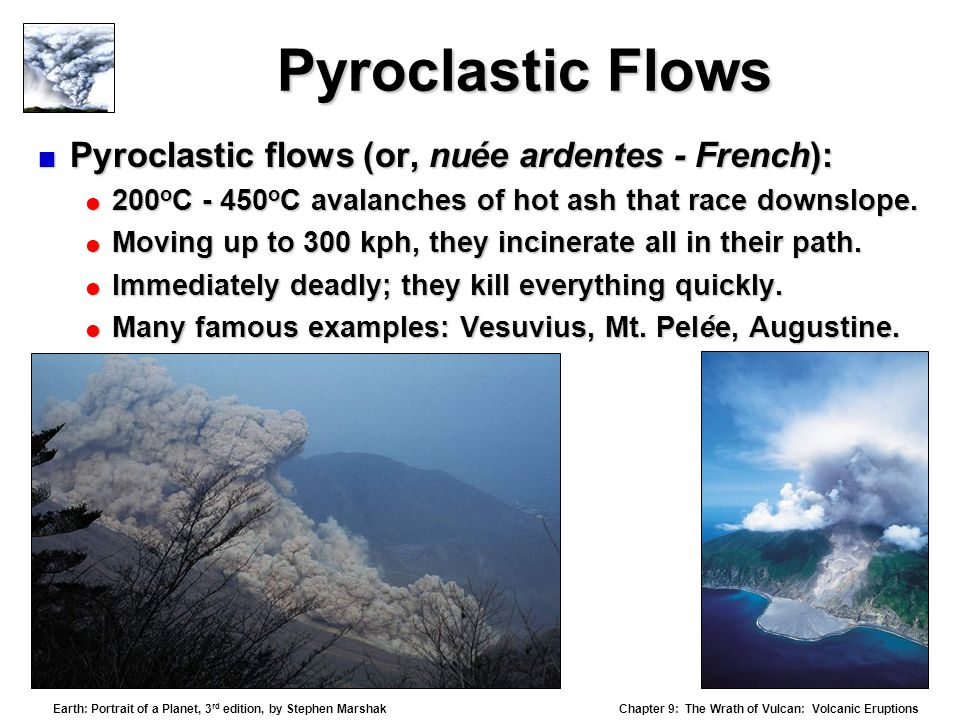 pyroclastic flows thesis Some of the most notable historic examples of pyroclastic flows are as follows in 79 ad, mt vesuvius erupted without warning it had been considered extinct.