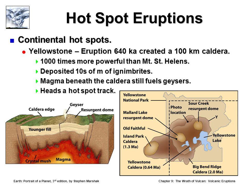 Hot Spot Eruptions Continental hot spots.