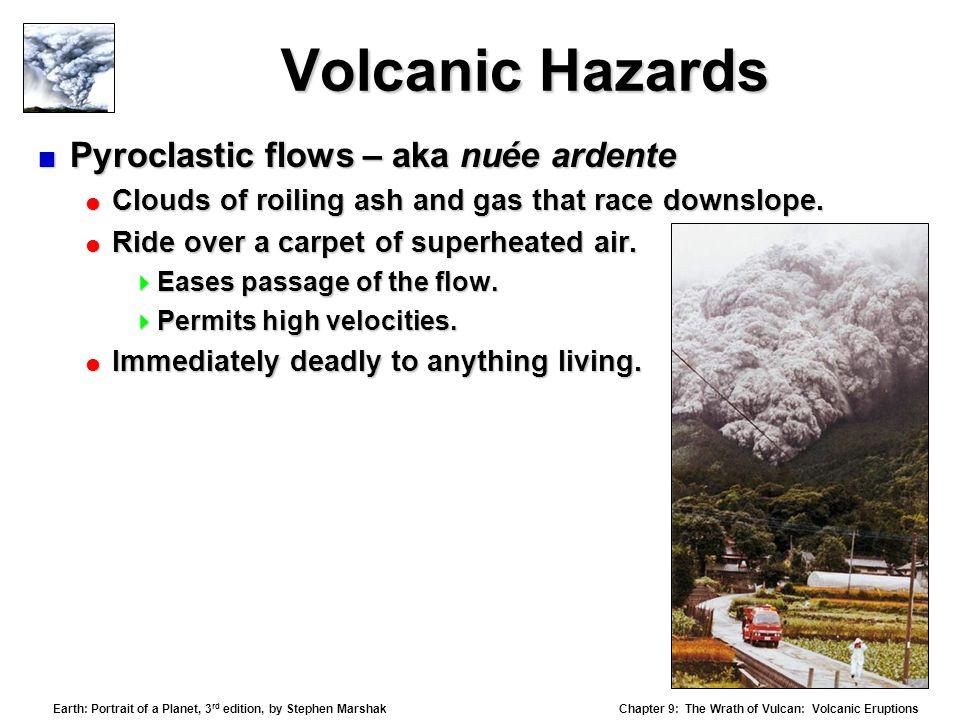 Volcanic Hazards Pyroclastic flows – aka nuée ardente