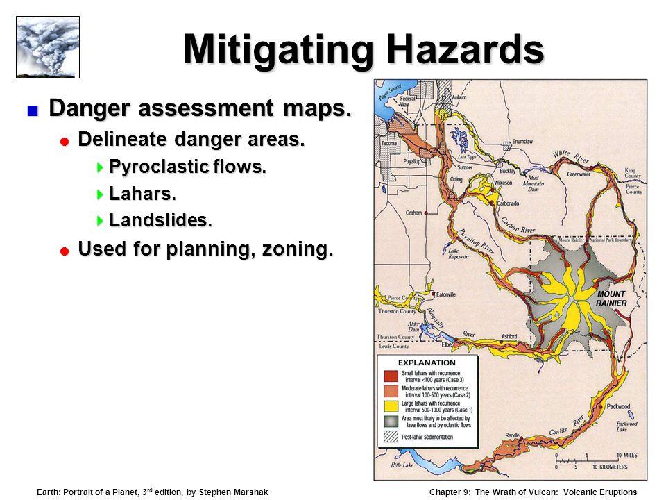 Mitigating Hazards Danger assessment maps. Delineate danger areas.