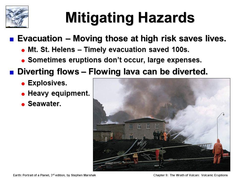 Mitigating Hazards Evacuation – Moving those at high risk saves lives.