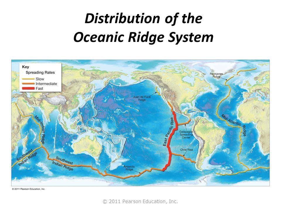 Distribution of the Oceanic Ridge System