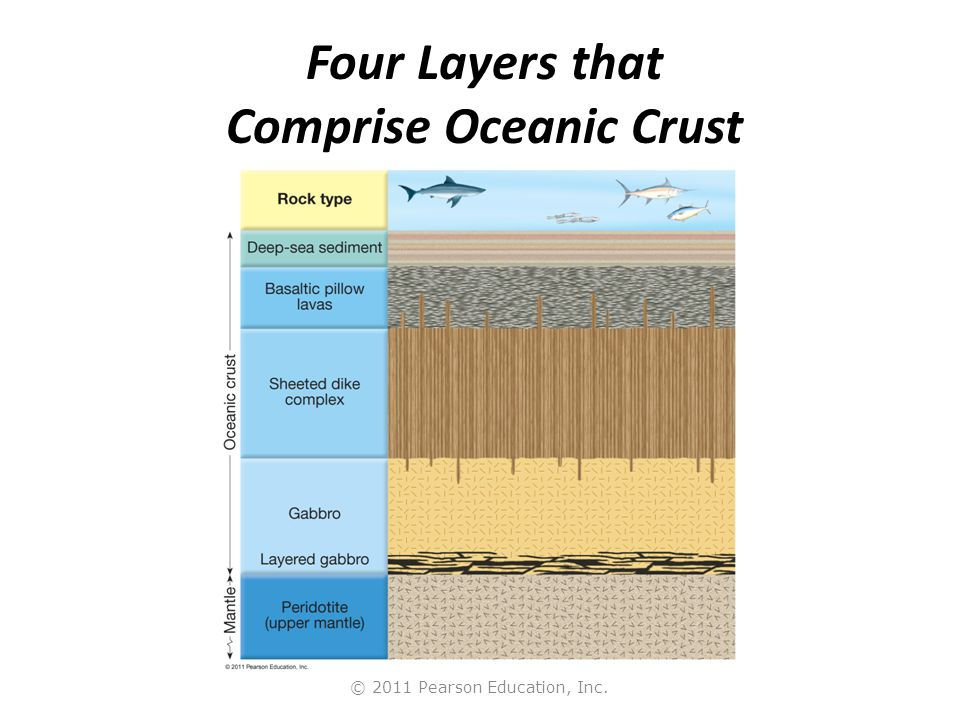 Four Layers that Comprise Oceanic Crust