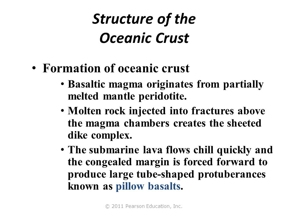 Structure of the Oceanic Crust