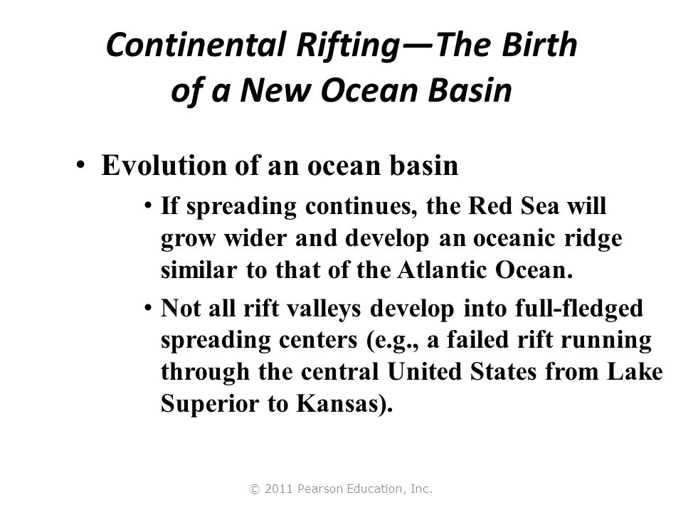 Continental Rifting—The Birth of a New Ocean Basin