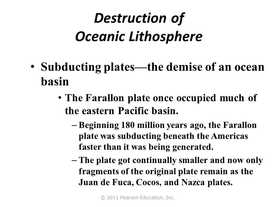 Destruction of Oceanic Lithosphere