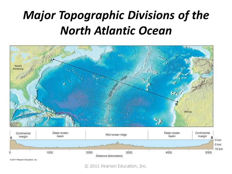 Major Topographic Divisions of the North Atlantic Ocean
