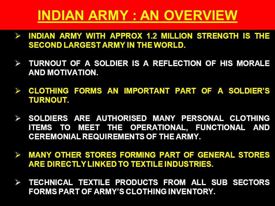 INDIAN ARMY : AN OVERVIEW