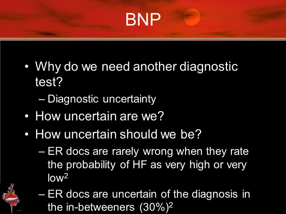 BNP Why do we need another diagnostic test How uncertain are we