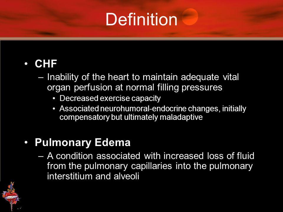 Definition CHF Pulmonary Edema