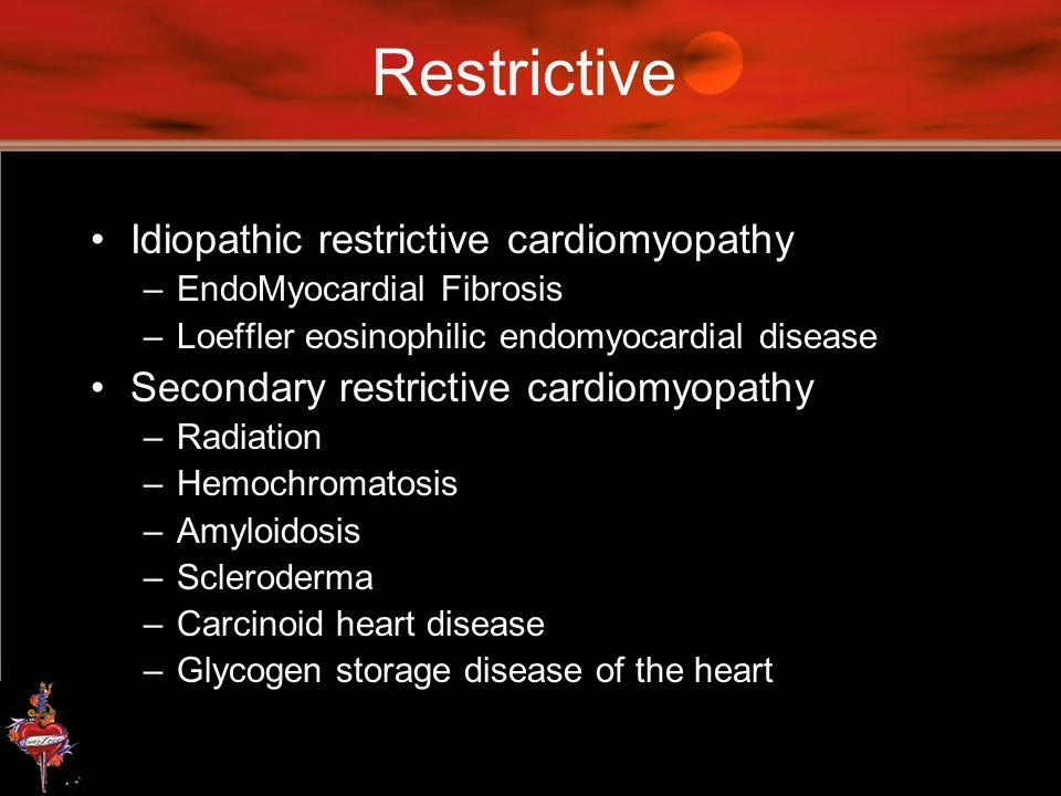 Restrictive Idiopathic restrictive cardiomyopathy