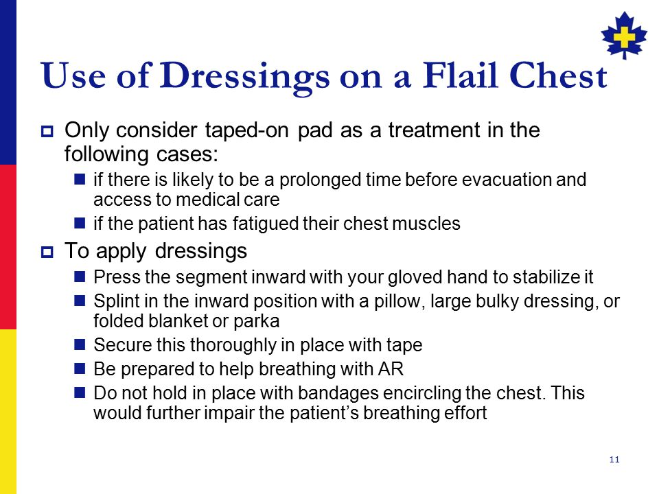 Use of Dressings on a Flail Chest