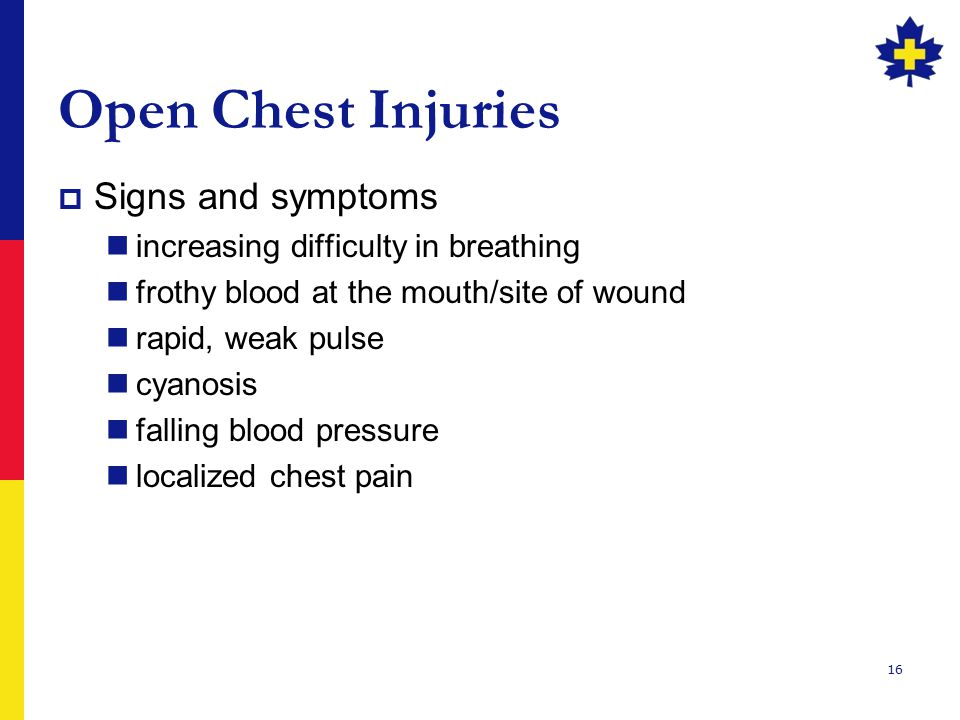 Open Chest Injuries Signs and symptoms