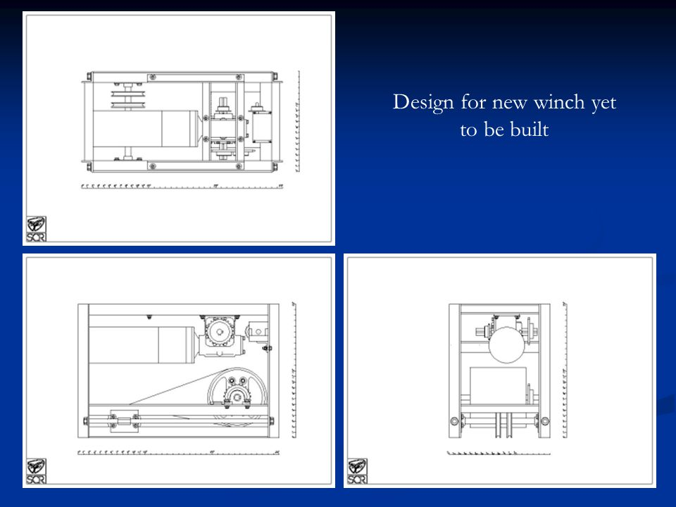 Design for new winch yet to be built