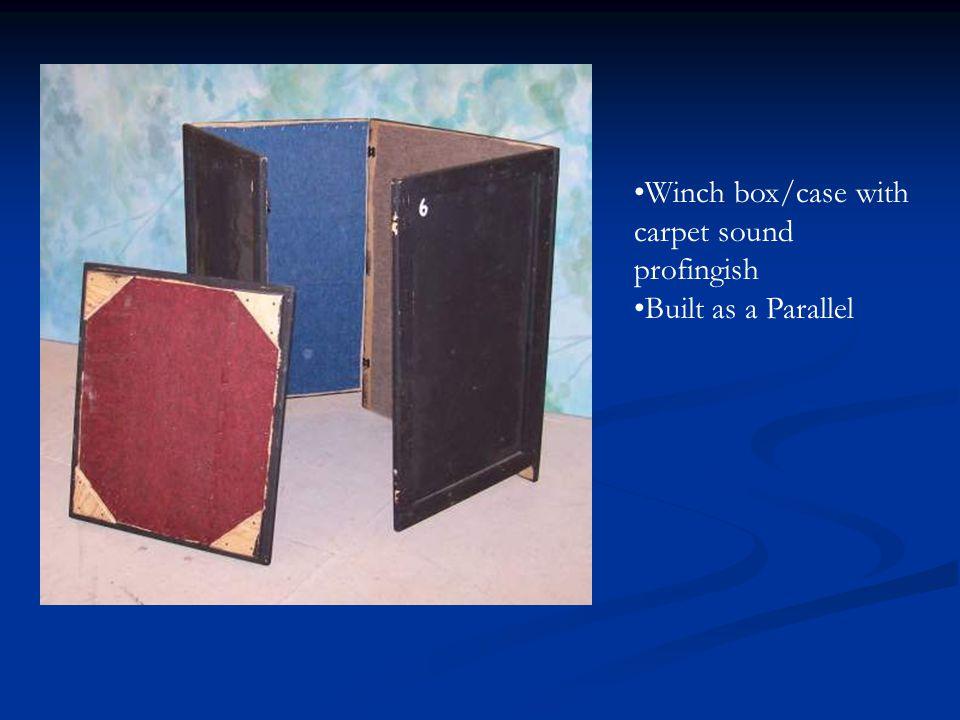 Winch box/case with carpet sound profingish